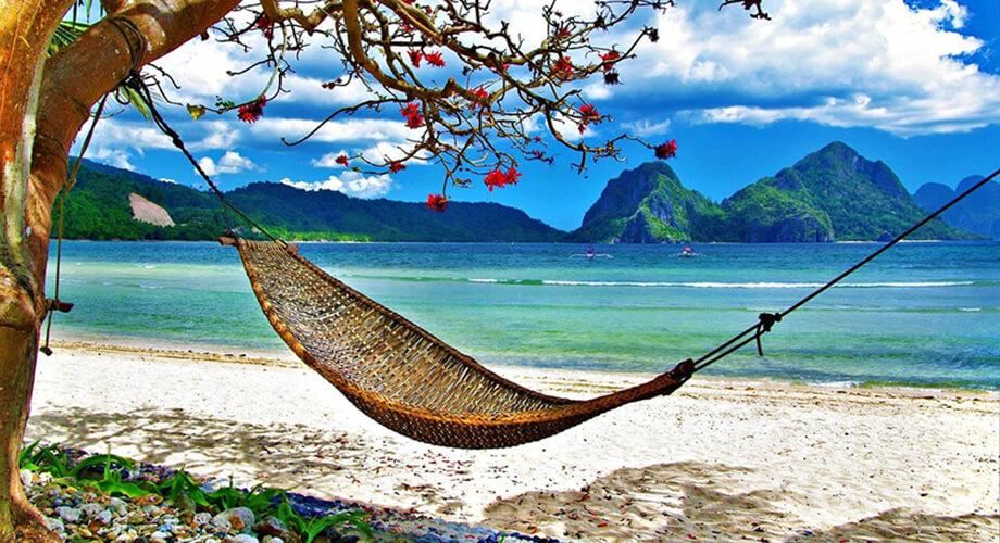 plage avec hamac